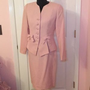 Bicci Petite Pink Suit With Bows